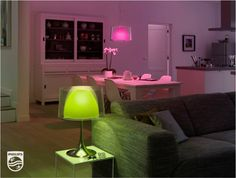 Use Philips' hue Personal Wireless lighting and LivingColors to bring your favorite spring colors into your house.
