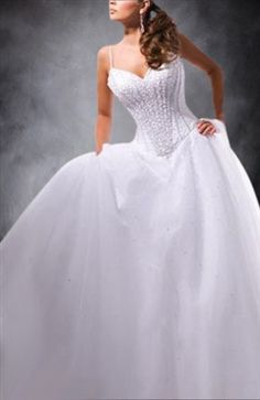 ecdc8791d25d White Floor-length Sleeveless Beading Wedding Gowns Wedding Gowns -  Outerdress.com