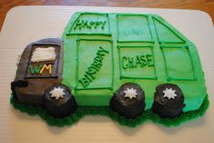 Garbage truck birthday cake for the little truck lover by Cake Appeal Utah