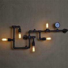 Industrial Plumping Pipe Steampunk Wall Light by RVsupplyco, $480.00