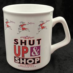 Shut Up & Shop Mall of America Souvenir Coffee Cup Mug #Unbranded
