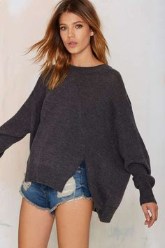 Nasty Gal Hard Day's Night Knit Sweater - Pullover | Tops