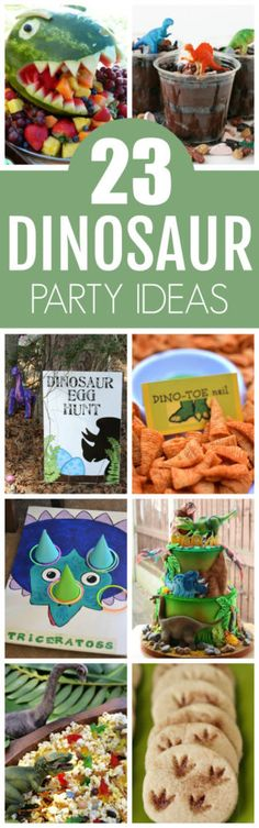 23 Roar-Some Dinosaur Birthday Party Ideas featured on Pretty My Party