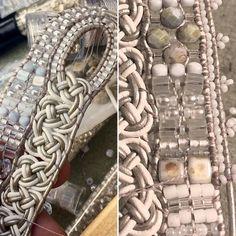 WIP - working on a new design - thinking bridal or formal affair.....trudging through and breaking needles as I go!   #twinklingofaneye #jewelrydesigner #artisanmade #oneofakind #workinprogress #originaldesign #widecuff #beadedcuff #beadedjewelryofinstagram #gettingitdone #herecomesthebride #whiteandsilver #newdesign #newbraid #loveknots #lovingitsofar #itneedsaname