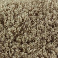 Fourrure poil long frisé 4 cm Beige x 10cm
