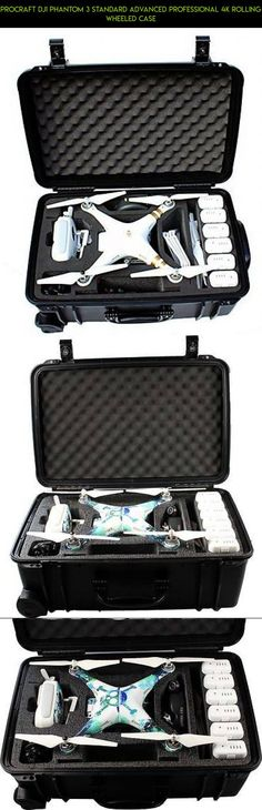 ProCraft DJI Phantom 3 Standard Advanced Professional 4K Rolling Wheeled Case #kit #4k #3 #plans #fpv #technology #products #standard #shopping #drone #camera #parts #phantom #dji #racing #tech #gadgets