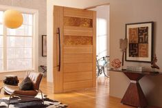 Residential Photo Gallery | TruStile Doors wood/metal pivot