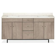 Room & Board - Hudson Bathroom Vanity Cabinets with Top - Hudson Double Sink Vanity in Shell Stain - Modern Bath Furniture Bathroom Vanity Makeover, Master Bathroom Vanity, Best Bathroom Vanities, Bathroom Vanity Cabinets, Bathroom Kids, Bathroom Vanity Lighting, Modern Bathroom, Sinks, Double Sink Vanity