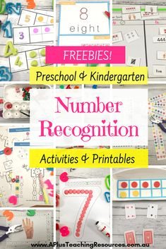 These amazing activities for Teaching Number Recognition are designed for kindergarten or preschool kids. Try these engaging hands-on activities and printables next time you're planning and teaching numeracy, for excellent results for your children! Visit Website For FREE Printables! #teaching #Math #Numbersense #counting #numbers #teacherfreebies #kindergarten