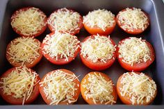 Parmesan Roasted Tomatoes - juicy and plump roasted tomatoes loaded with Parmesan cheese. So easy to make, fool-proof and amazing! | rasamalaysia.com