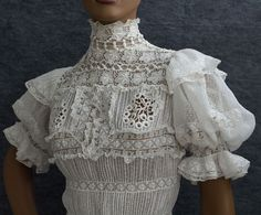 Edwardian Clothing at Vintage Textile: #2714 tea dress  http://www.vintagetextile.com/new_page_6.htm#