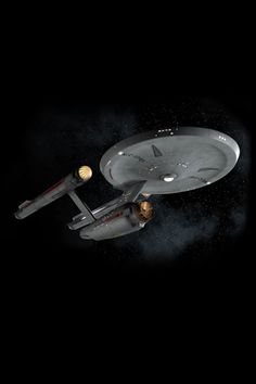 The Consitiution class USS Enterprise from the original Star Trek series