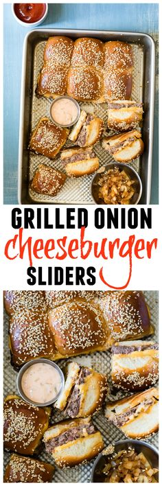Easy Cheeseburger Sliders with special sauce and grilled onions, just like animal style fries! Perfect for Labor Day!