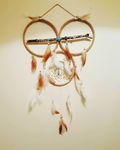 Who.. Who..whoo  likes our hand crafted Poarch Creek Native American Owl dream catcher? Did you know Holy men or holy women among manytribes frequently sought out the spiritual help from real owls in their healing practices. The holy people believed that the owl had very soft and gentle ways similar to the softness of an owl's feather and these ways were taught to them in the healing ways. The Owl Dream Catcher also has Citrine hanging inside of it.  Citrine eliminates negative energies it…