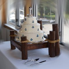 Pier Style Cake Stand For Nautical Beach Boat And Lake