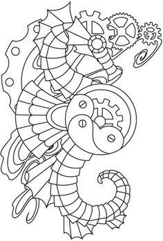 Mechanica Aquatica - Seahorse design (UTH4961) from UrbanThreads.com 20 May 2013
