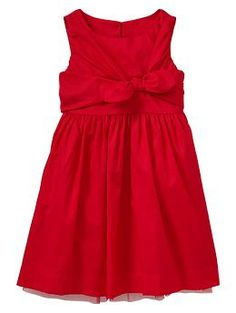 Wrap bow dress- red sleeveless frock- Gap kids- baby girl