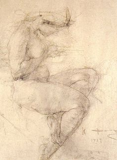 Nicolai Fechin, Study on ArtStack Figure Painting, Painting & Drawing, Rodin Drawing, Nicolai Fechin, Figure Sketching, Figure Drawings, Drawing Studies, Beautiful Drawings, Gravure