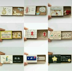 DIY Gifts Box-Hidden matchbox messages - Gift World and Gift Box Birthday Diy, Birthday Gifts, Matchbox Crafts, Diy Cadeau, Diy Gift Box, Diy Gifts For Boyfriend, Perfect Boyfriend, Valentine Crafts, Diy Cards