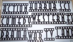 Amazon.com: Movie Words, Assorted Home Theater Decor Metal Wall Art: Home & Kitchen