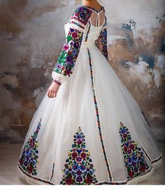 Look Fashion, Hijab Fashion, Fashion Dresses, Womens Fashion, Romper With Skirt, Dress Up, Pretty Quinceanera Dresses, Quince Dresses, Embroidery Dress
