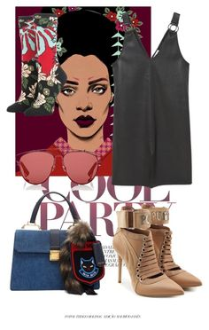 """#219"" by serenafenty on Polyvore featuring mode, Stance, MANGO, Christian Dior, Miu Miu et Puma"