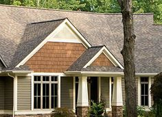Today's vinyl siding products can mimic wood, insulate your home, and even stand up to tornado-force winds, making them a highly desirable exterior cladding option. Shingle Siding, Cedar Siding, Green House Siding, Outdoor Pergola, Pergola Ideas, Diy Pergola, Pergola Designs, Pergola Plans, Concrete Siding