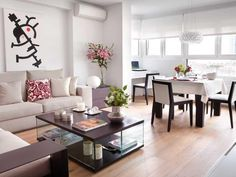 Salón, comedor y lugar de trabajo Room Feng Shui, Small Living Rooms, Living Room Designs, Condo Living, Living Room Modern, Family Room, Home Renovation, Dining Room, Diy Home Decor