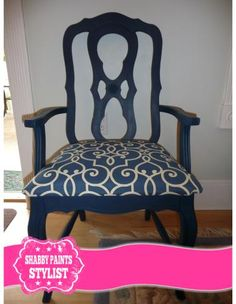 Marine Blue Paint. #boutiquepaint #shabbypaints Marine Blue, Chalk Paint, Accent Chairs, Shabby, Dining Room, Diy, Painting, Furniture, Home Decor