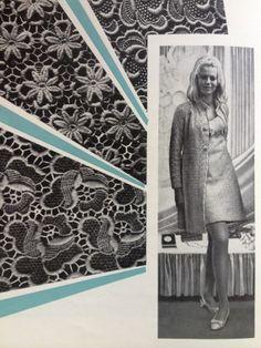 Plauener Spitze - Muster und Modell aus den 60er Jahren - produziert von der Modespitze