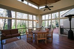 A contemporary in Atlanta, The sun room measures about 400 square feet and has a wood-paneled ceiling. Jessica McGowan for The New York Times