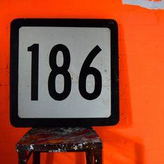 Wooden Highway Numbers - 186