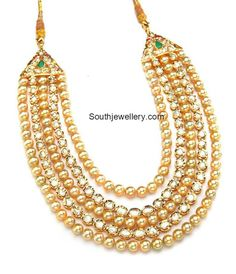 Layered Polki South Sea Pearl Haram photo
