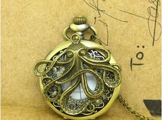 Pocket watch collection of antique Necklace Pendant by girlandgift, $3.99
