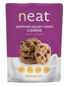 Neat Oatmeal Pecan Raisin Cookie Mix Enjoy neat vegan cookies made with the neat egg. Gluten-free, soy-free, non-gmo and healthy as they are delicious!