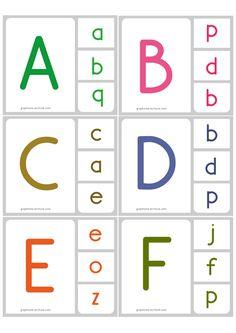 jeu d'écriture Memory Alphabet Correspondance majuscule minuscule script 1