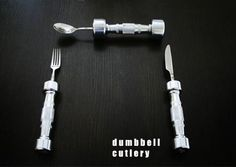 dumbbell cutlery....smart!