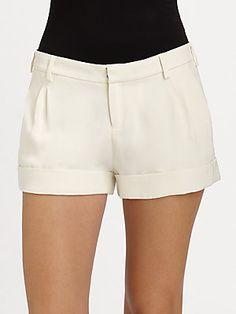 Haute Hippie Silk Tuxedo Shorts