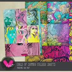 Girls of Summer Collage Sheets by #he{art}journaling  The sun streaked sheen to her hair and the glow of her skin is a dead giveaway. #digitalscrapbooking #thestudio