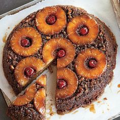 Pineapple Upside-Down Carrot Cake | One quick flip and this moist cake with perfectly caramelized fruit slips from a skillet. | SouthernLiving.com