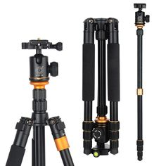 Hot Q999S Professional Photographic Portable Tripod Change Monopod For Digital SLR DSLR Camera with Ball Head Weight 1.25 KG //Price: $67.25//     #onlineshop