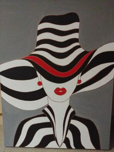 Afrique Art, Art Deco Paintings, Cubism Art, Fashion Wall Art, Arte Pop, Art And Illustration, Fabric Painting, Face Art, Art Drawings
