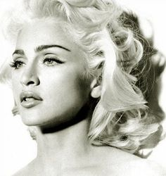 Madonna. My all-time favorite pic of Madonna. The mandible. The glowing blond hair. It was when she was doing her collagen lips though. But still. The power of black and white.