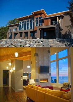 Cool House of the Day: Alaska Home With Ocean and Volcano Views >> http://coolhouses.frontdoor.com/2012/12/13/modern-alaskan-waterfront-home/?soc=pinterest