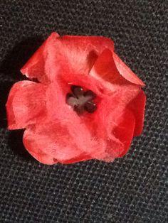 ANZAC poppy .... RCH Creation version Anzac Poppy, Poppies, How To Make, Poppy, Poppy Flowers