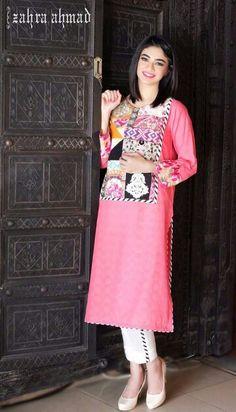 Pakistani summer outfit.