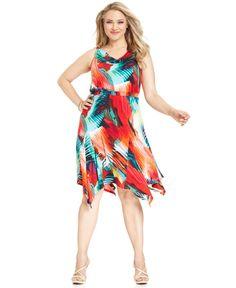 NY Collection Handkerchief Hem Dress - Macy's