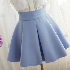 blue umbrella skirt