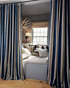 Curtained bed space (without the window for me)