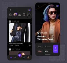 User Interface & User Experience For Fashion Mobile App Web Design, App Ui Design, User Interface Design, Dashboard Design, Graphic Design, Apps, Mobiles, Ecommerce App, App Design Inspiration